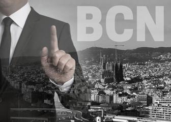 bcn skyline panorama concept background