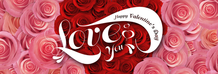 happy valentine day, rose background