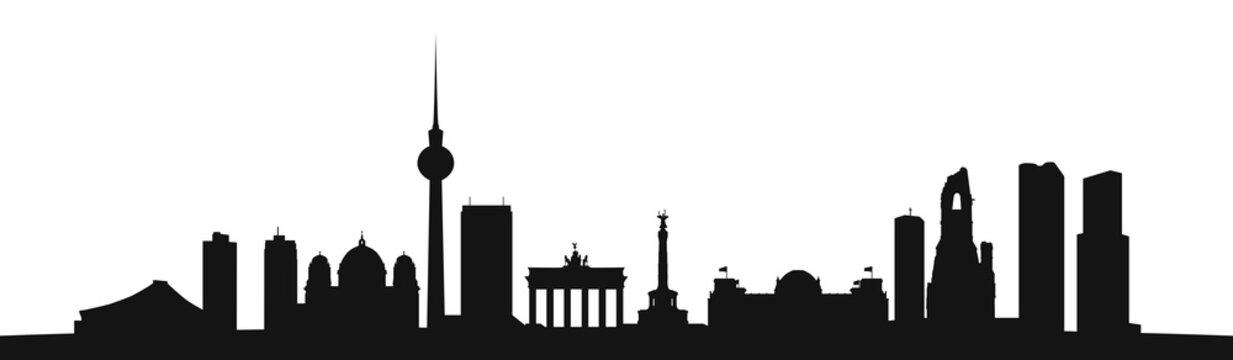 Skyline Berlin als Vektor Kontur