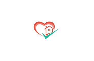 house check heart logo