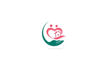 house family care heart logo