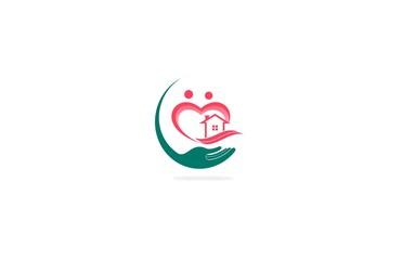 house family care heart logo