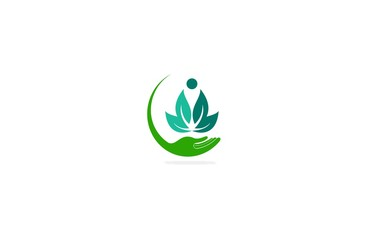 lotus flower human care logo