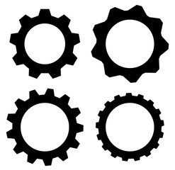 Gearwheel, cogwheel, gear shapes. mechanics, industry or product