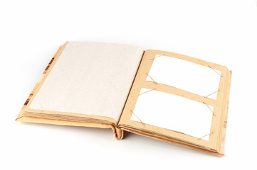 Open photoalbum with frames
