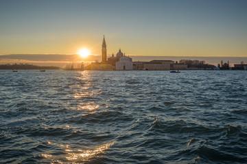 Venetian Lagoon at sunrise.