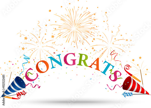 congratulations celebration with firework fotolia com の ストック