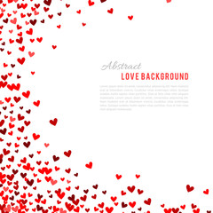 Romantic red background. Vector illustration