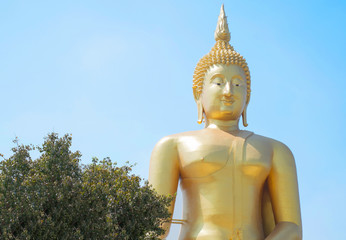 big buddha and blue sky