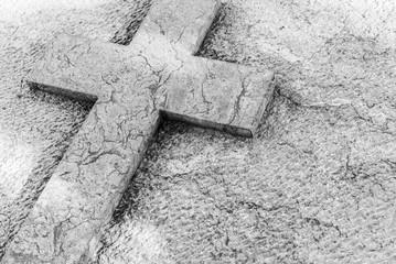 Kreuz Symbol Hintergrund Trauer Tod Kondolenz