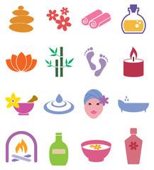 Spa icons set