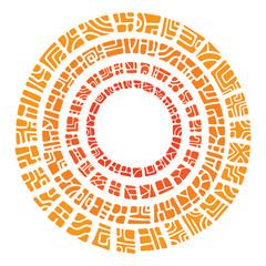 Vector ethnic circle sun