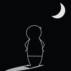 Contemplating the Moon