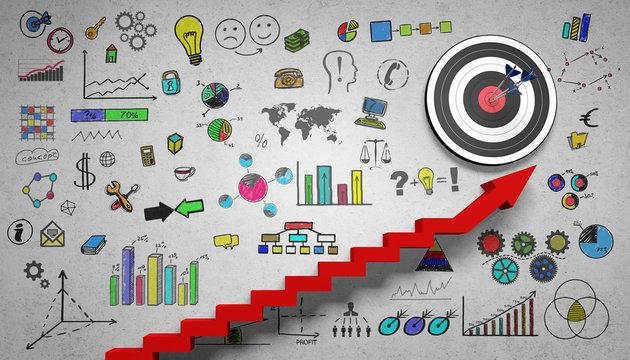 Ziel / Erfolg / Business / Konzept