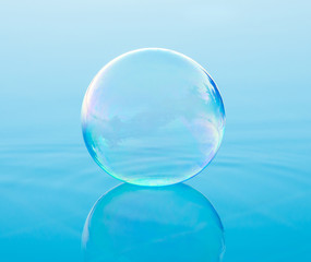 single soap bubble
