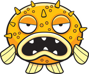 Cartoon Blowfish