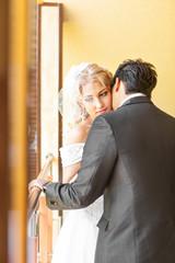 beautiful wedding, husband and wife, lovers man woman, bride and groom