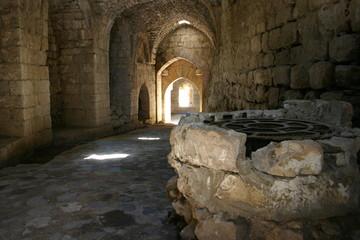 Fototapeta Studnia w zamku Krak des Chevaliers, Syria obraz