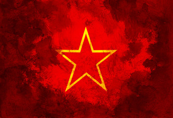 Red star of communism and socialism