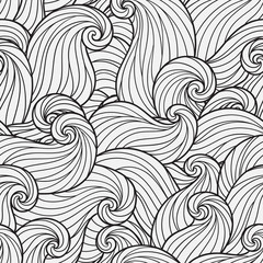 Seamless Pattern for coloring book.