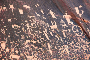 Petroglyphs at Newspaper Rock State Historic Monument, Utah, United States, located near Canyonlands National Park