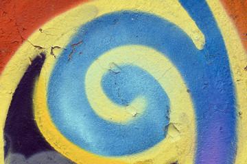 Яркий красочный фон разноцветный, как Радуга. Стены, покрашены акварельной краски. Крупным планом пятна краски