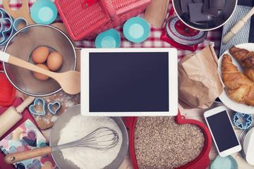 home baking food tablet hero header