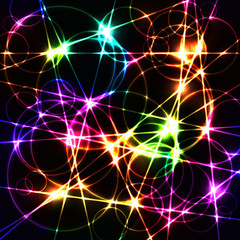 colorful laser chaos random lines and circles