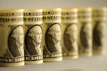 Dollar, Banknoten, Washington, Geld, Geldscheine, Währung, Wechselkurse, Leitwährung, USA, Federal Reserve Bank, Amerika