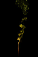 Colorful smoke isolated on a black background