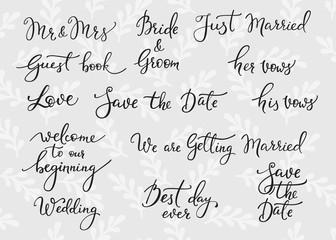 Wedding simple lettering decor