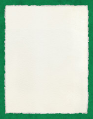 Deckled Paper on Green