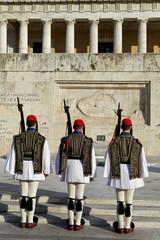 Cambio di guardia davanti al parlamento greco,Atene.