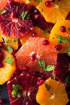 Close up of citrus salad