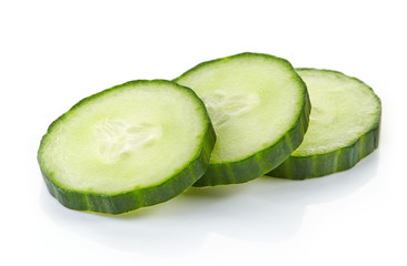 fresh raw cucumber slices