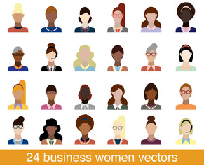 24 business women vectors