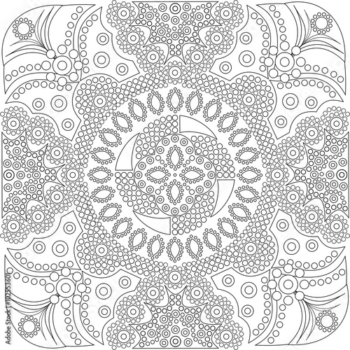 Aboriginal Style Of Dot Painting And Power Mandala 16 1a