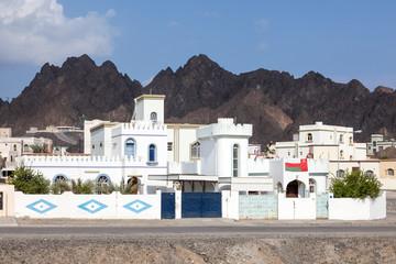 White houses in Omani village