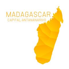 Madagascar map geometric texture background
