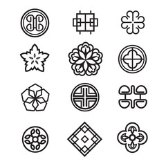 Korean traditional symbol vector image