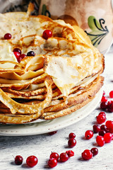 Cooking homemade pancakes