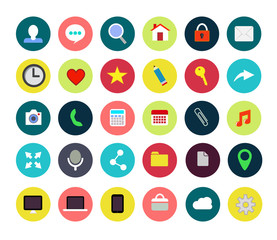 Flat web icons. Vector