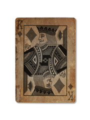 Very old playing card, King of diamonds