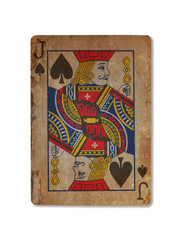 Very old playing card, XXXX