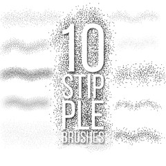 10 scatter dots brushes set.