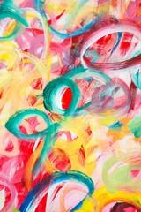 """Gemälde """"Lebenslust"""" (Ausschnitt) von Carola Vahldiek (Gouache-Farben auf Papier)"""