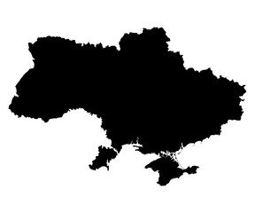 Ukraine map on white background vector