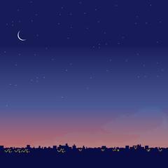 夜景 イラスト