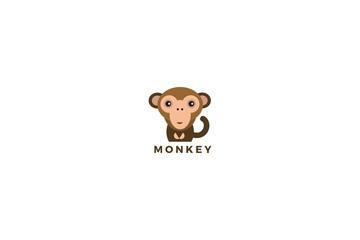 Simple Cartoon Cute Monkey