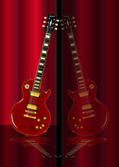 Red Guitar Reflections